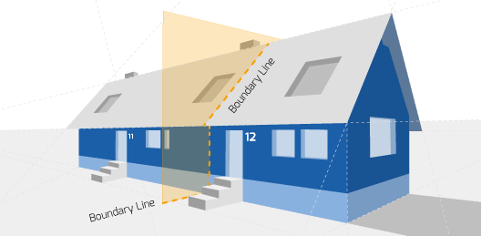 Party Wall illustration for Prestwich